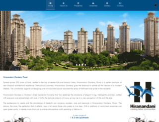 hiranandanizen.com screenshot