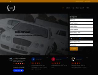 hire-a-bentley.co.uk screenshot