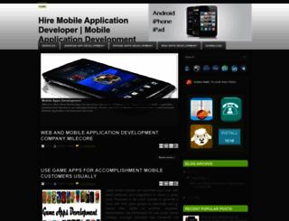 hiremobileappsdeveloper.blogspot.in screenshot