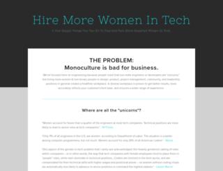 hiremorewomenintech.com screenshot