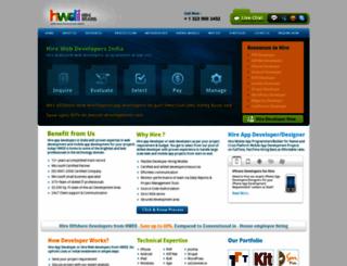 hirewebdevelopersindia.com screenshot