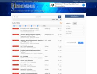 hiringvenue.com screenshot
