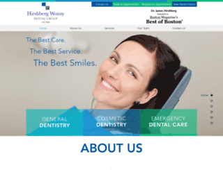 hirshbergdental.com screenshot