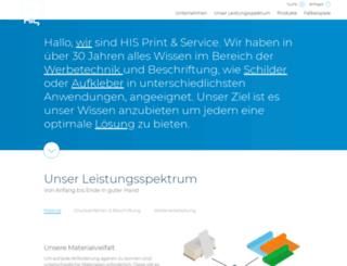 his-print-service.de screenshot