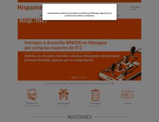 hispamer.com.ni screenshot