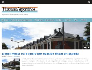 hispanoargentinos.com screenshot