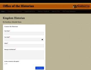 historian.ansteorra.org screenshot