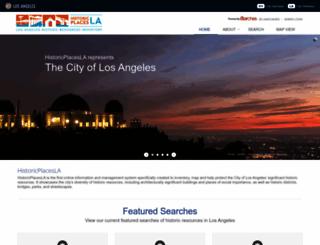 historicplacesla.org screenshot
