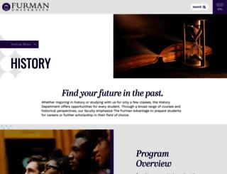 history.furman.edu screenshot