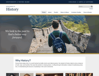 history.nd.edu screenshot