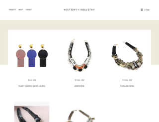 historyandindustry.bigcartel.com screenshot
