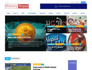 historynepal.com screenshot