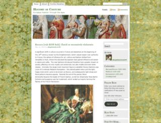 historyofeuropeanfashion.wordpress.com screenshot