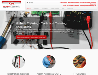 hitechtraining.ie screenshot