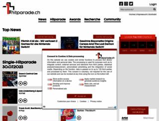 hitparade.ch screenshot