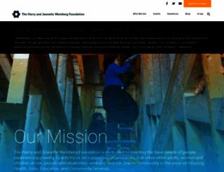 hjweinbergfoundation.org screenshot