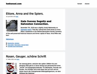 hmhensel.com screenshot