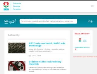 hnutie-sen.sk screenshot