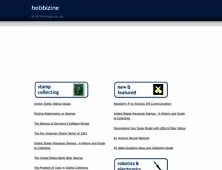 hobbizine.com screenshot