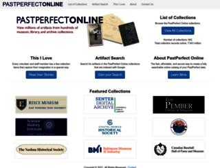 hoboken.pastperfect-online.com screenshot