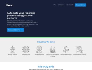 hoc.com screenshot