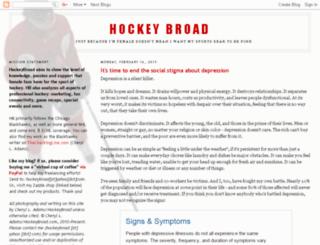 hockeybroad.com screenshot