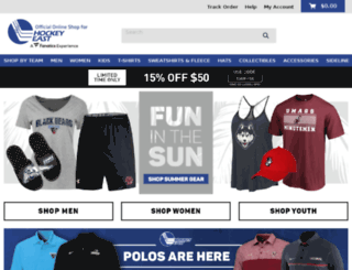 hockeyeastonline.teamfanshop.com screenshot