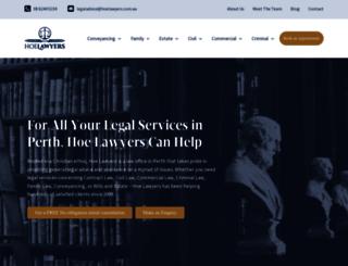hoelawyers.com.au screenshot