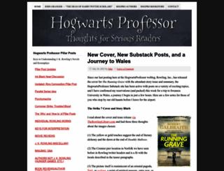 hogwartsprofessor.com screenshot