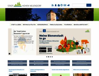 hohen-neuendorf.de screenshot