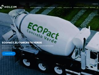 holcim.com.ec screenshot