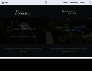 holdenarb.org screenshot