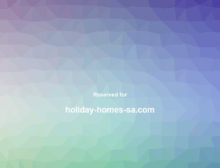 holiday-homes-sa.com screenshot