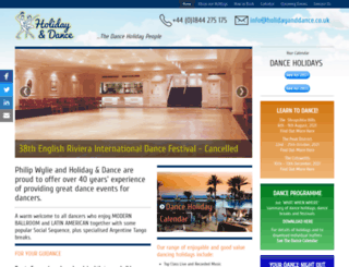 holidayanddance.co.uk screenshot