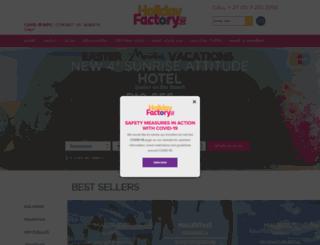 holidayfactory.co.za screenshot