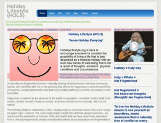 holidaylifestyle.org screenshot