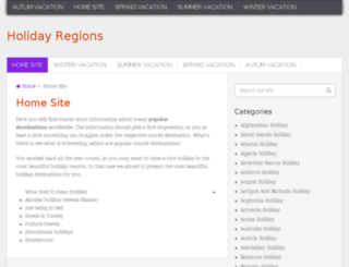 holidayregions.com screenshot