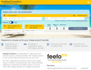 holidaytransfers.com screenshot