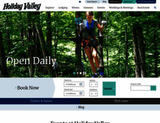 holidayvalley.com screenshot