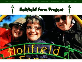 holifieldfarmproject.co.uk screenshot