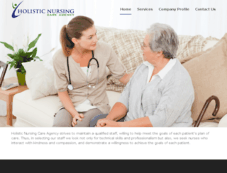 holisticnursingcareagency.com screenshot