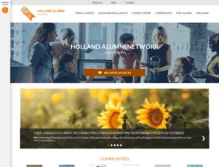 hollandalumni.nl screenshot