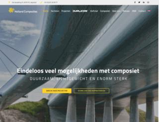 hollandcomposites.nl screenshot