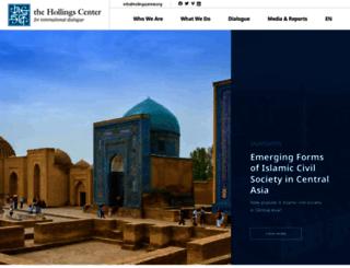 hollingscenter.org screenshot