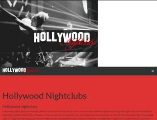 hollywoodnightclubs.la screenshot