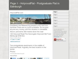 holyroodflat.com screenshot