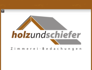 holzundschiefer.eu screenshot