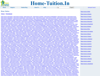 home-tuition.in screenshot