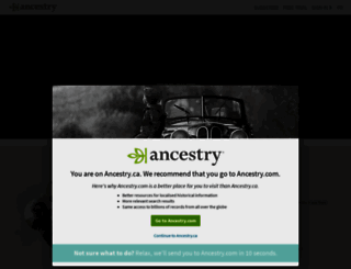 home.ancestry.ca screenshot