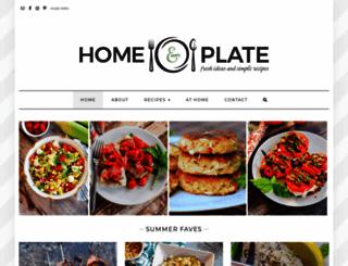 homeandplate.com screenshot